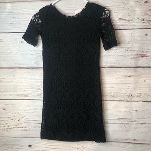 Divided Small Black Lace Dress Size 2